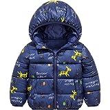 Chaqueta Bebé Niños Abrigo con Capucha para Niña Invierno Cálido Grueso Abrigo Caballo Azul 3-4 Años