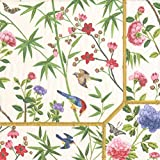 Caspari Chinese Wallpaper Cream Recevez con servilletas Tejido/Papel Crema,...