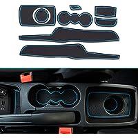 Muchkey Pacco da 21 Per 2011-2014 X3 Custom Fit Cup Anti-Dust Antiscivolo Tappetino per Interni Rosso Door e Center Console Liner Accessori