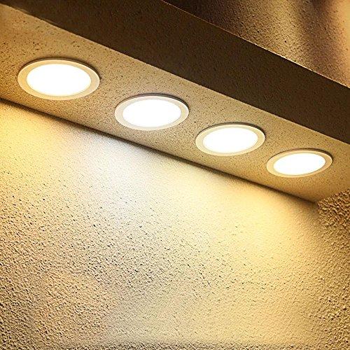 Hengda® 4 stück 12W Warmweiß LED Spot Decken Einbauleuchte Leuchte Einbau Strahler Set Lampen 1120LM 85-265V