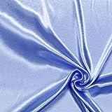 Fabulous Fabrics Polyestersatin Stoff hellblau — Meterware ab 0,5m — Satin zum Nähen von Kissen und Tagesdecken, Tischdekorationen und Bettwäsche