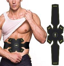 SHENGMI Hochentwickelter Bauchmuskeltrainer Elektrisch Gürtel für Einen Durchtrainierten Bauch - Bauchmuskel-Gürtel, EMS Bauch-Training, Stärkung der zentralen und seitlichen Bauchmuskulatur