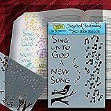 "Bible Journaling Stencil - Sing Unto/Notes (6"" X 9"")"