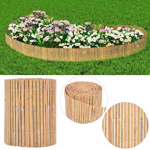 Tidyard- Gartenzaun Bambus Dekorativer Bambus Zaun Gartendekor 1000×30 cm