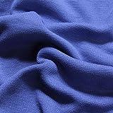 0,5 Meter Baumwolle Lycra Bündchen kobaltblau kbA GOTS 85