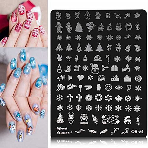 Bluelover Nail Art Immagine Stampa Piastra Polacco...