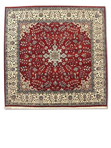 Handgeknüpfter Kashan Teppich, Rot, Wolle, 213 X 209 cm