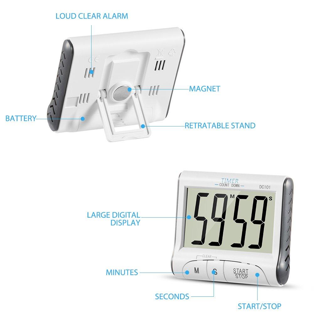 780769b87a9128 Timer Cucina, YXwin Magnetico Digitale Elettronico 24 Ore Timer da ...