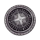 YIXINXI Teppich YIXINY-3006 Hochwertiges Nylon Raum Kompass Runde Rutschfest Nein Verblassen Matten 7 Größe Optional Schwarz + Weiß ( größe : Diameter-0.9M )