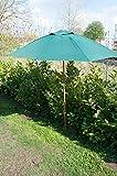 Bambus-Holzschirm 2m Gartenschirm Sonnenschirm (grün)