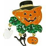 Rucinni Halloween Calabaza con Sombrero Broche
