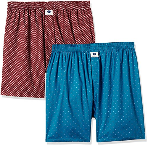 Symbol Men's Cotton Boxer Set (pack Of 2)