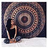 AoDi Elefante Arazzo,Tapestry Queen Ombre Gift Hippie Etnico arazzi Mandala Indiano Telo Etnico da Parete Psychedelic Tappezzeria Bohemian per Decorare Pareti Tavoli Tovaglia da Picnic e Telo da Mare