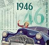 1946 Geburtstags-Geschenke - Kompilation Musik CD - Leere Jahr Grußkarte Geschenk - 20 Original HitParaden Songs - Karte misst 15 x 14 cm