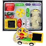 Winkeyes Electronic Discovery Kit Learning Circuit Educational Electronic Block Kit Powered By Solar/ Battery Best DIY Toy For Ages 8+ Kids