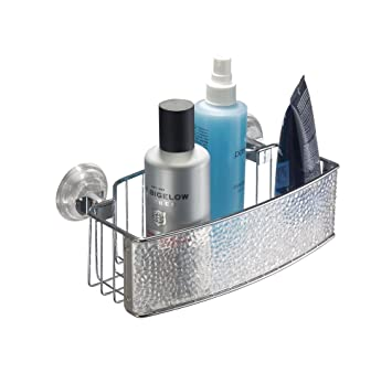 mdesign duschkorb zum hngen aus kunststoff die ideale duschablage fr shampoo schwmme rasierer und sonstiges duschzubehr ohne bohren zu montieren - Duschablage Kunststoff