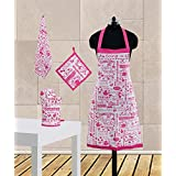 Dekor World Being A Girl Printed Apron Set(Pack Of 4 Pc)