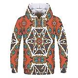 JUTOO Mode Liebt 'Casual Herbst Winter Druck Langarm Hoodies Sweatshirt(Orange,Medium)