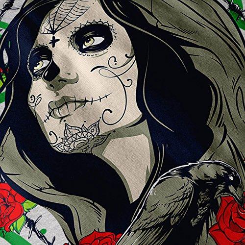 Mädchen Rose Gesicht Horror Damen S-2XL Muskelshirt | Wellcoda Grey