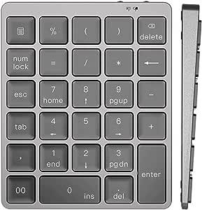 Tastiera Numerica per tastiera wireless con 28 tasti pc scrivania per computer portatile taccuino Ponacat