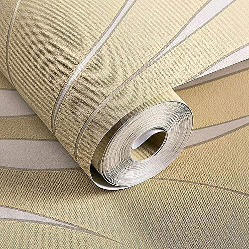 Z&J Moderne Streifen geometrische 3D Wallpaper Roller Schlafzimmer Wohnzimmer Home Decor geprägt grau Streifen Wallpaper TV Sofa Hintergrund (Color : Metallic, Size : 0.2 * 3.9in) -