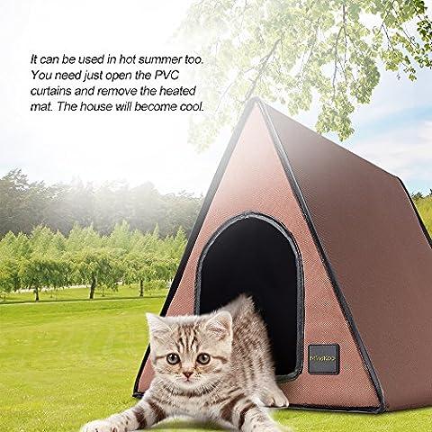 Mindkoo Haustier Beheizten Heizung Betten Schlafplätze Matten Abnehmbar Für Katze