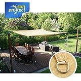 sunprotect Sonnensegel Sonnenschutz, wasserdurchlässig, Farbe:Beige;Größe:3.5x4.5m