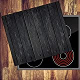 decorwelt Ceranfeldabdeckung 60x52 cm Herdabdeckplatten 1 Teilig Elektroherd Induktion Herdschutz Deko Glasplatte Schneidebrett Sicherheitsglas Spritzschutz Glas Holz