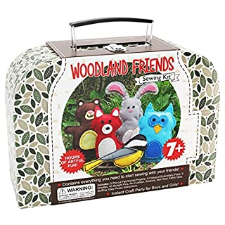 Woodland Animals Kids Arts & Crafts Project Kit - Offers Hours of Artful Fun for Girls & Boys - Ideal Kids Craft Party Activity - Sewing Kit includes All Craft Supplies & Easy Instructions for Ages 7 to 12