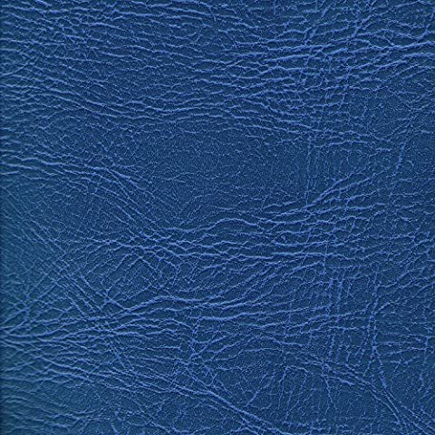 ROYAL BLUE 54 inch wide Leatherette Vinyl Fabric Fire Retardant Faux Leather Upholstery Material Sold by the metre