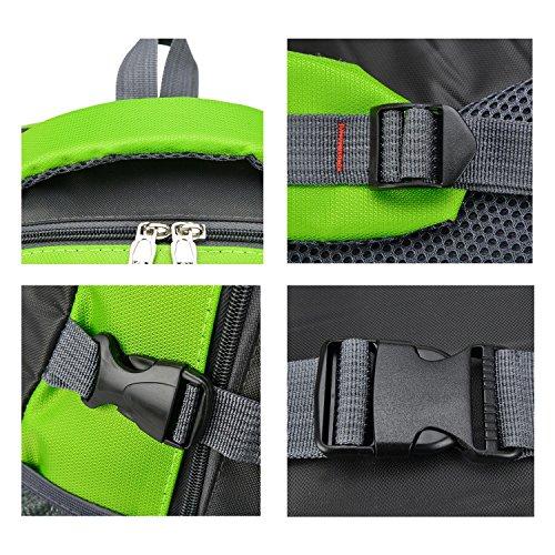 Viaggiare zaino leggero multifunzione grande capacità tempo libero Oxford zaino arrampicata escursioni equitazione Pack business studenti spalla borsa 4 colori H58 x L35 x T18 cm , black Blue