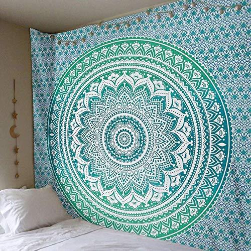 TapestryIndian Mandala Tapisserie Taijiquan Wandteppich Hippie Deko Gecko Yoga Matte, C, (A) x 150Cm - Gecko Yoga-matte