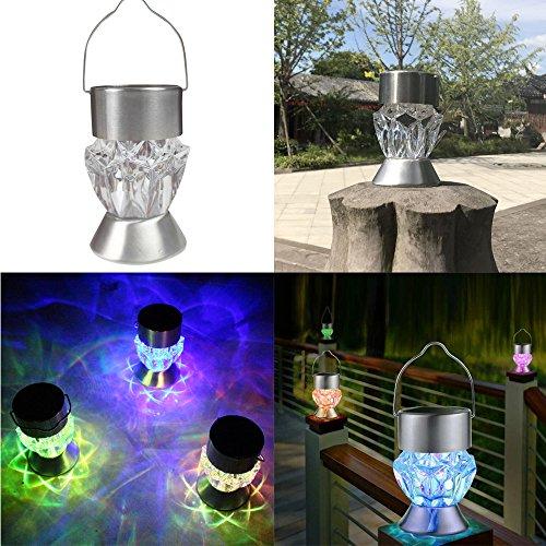 Zhen+ Solar Leuchte, Solar Diamant Lampe Kronleuchter, Waterproof Solar  Rotatable Outdoor Garden