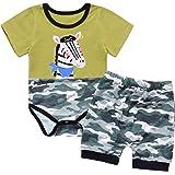 Conjunto de ropa para bebé y niño, de verano, para recién nacidos, ropa para niños pequeños, de dibujos animados, body de man