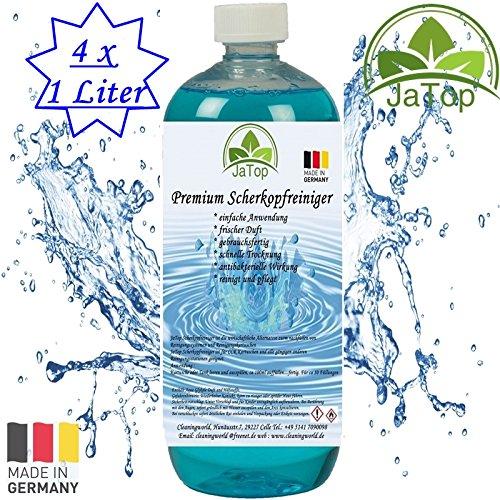 JaTop Scherkopfreiniger 4L universal Nachfüllflüssigkeit geeignet für Braun, Panasonic, Reinigungskartuschen, Tanks (4)