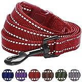 Blueberry Pet Leinen für Hunde 1,5 cm by 150 cm Länge 3M Reflektierende Strapazierfähige Hundeleine in Marsala Rot, S, Passender Hundehalsband erhältlich separate