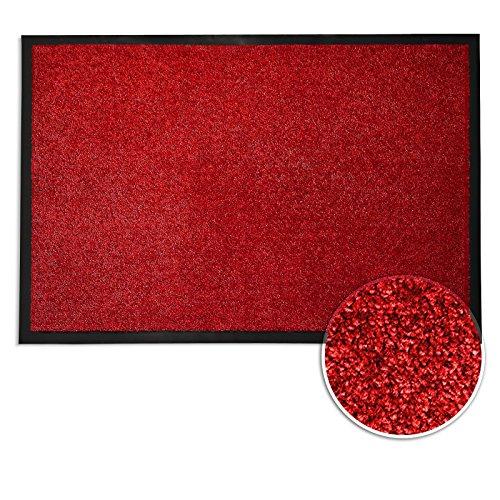 Casa Pura Dirt Trapper Entrance Mat | Non Slip | 8 Sizes Available | Red    40x60cm