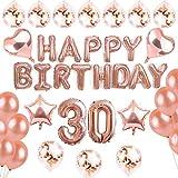 INSANY Geburtstag Party Dekorationen Kit-Rose Gold Happy Birthday Banner (30)