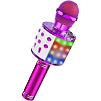 Dreamingbox Gift for Girls Age 5-12, Portable Wireless Bluetooth Karaoke Microphone for 5-12 Year Old Boys Girls Toys Age 6-12 Party supplies Stocking Fillers Purple
