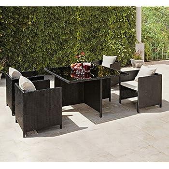 Rattan Garden Furniture Cube Dining Set - Ideal Outdoor ...