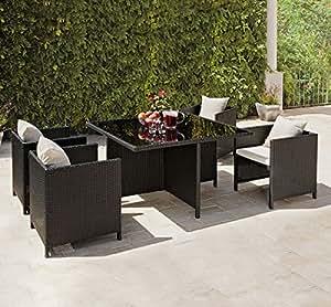 rattan garden furniture cube dining set ideal outdoor. Black Bedroom Furniture Sets. Home Design Ideas