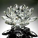 Xshuai Fleur de lotus en cristal style origami pour décoration d'intérieur Feng Shui 60mm, blanc, Diameter: 60mm...