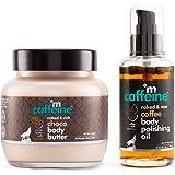 mCaffeine Coffee-Choco Intense Moisturization Set   Pre & Post Shower   Body Oil, Body Butter   Reduces Stretch Marks   Parab