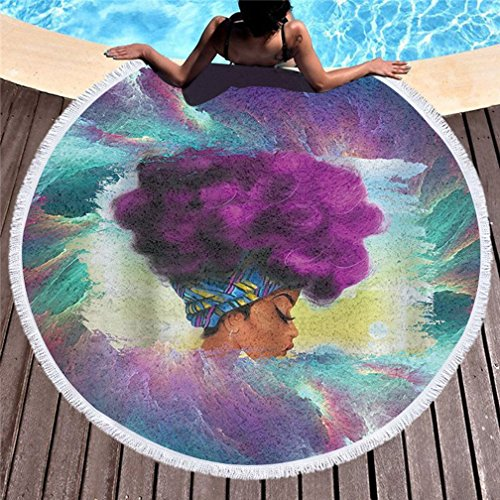 Stillshine 150 cm Redonda Alfombra,Toallas Playa Grande, Mandala Microfibra Esterillas Yoga Manta,Mantel...