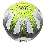 uhlsport Elysia Ballon Mixte Adulte, Blanc/Bleu Marine/Jaune Fluo