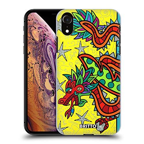 Head Case Designs Offizielle Britto Viel Glueck Abstrakte Abbildungen 2 Harte Rueckseiten Huelle kompatibel mit iPhone XR