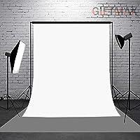 GiftMax® 8 x10 FT Heavy White Color LEKERA Backdrop Photo Light Studio Photography Background, (White)