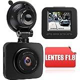 AWESAFE Cámara de Coche Dash CAM 1080P Full HD 170 Ángulo con WDR G-Sensor, Detección de Movimiento, Grabación en Bucle, Visi