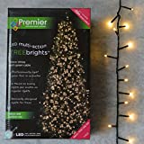 500 LED (12.5m) Premier TreeBrights Cluster Christmas Tree Lights in Warm White
