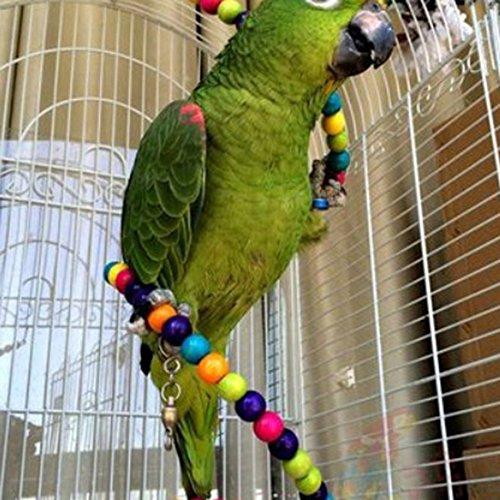 Perchoir flexible jouet d'oiseaux échelle en bois pour oiseaux comme perroquet 100cm